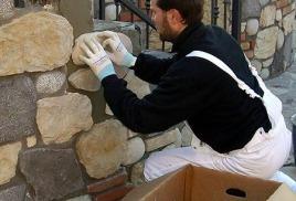 монтаж, укладка искусственного декоративного камня
