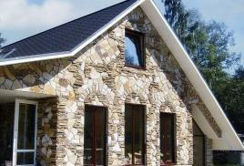 Отделка фасадов искусственным камнем